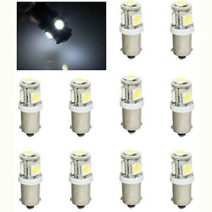 (10) White 5-LED Dash Instrument Panel Cluster Gauge Clock Glove Box Light Bulbs