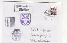 2001 MOSTAR UN MISSION SFOR German ARMY Cover FELDPOST 731+4 Cancels-K518