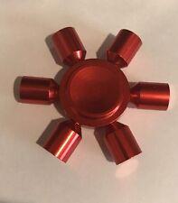 FIDGET Hand Spinner Metal METALLIC RED Brand New Fijit ADHD Focus Toy Autism