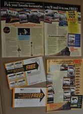 1986 & 1987 LOCOMOTIVE STAMPS advertisements x2, Tuvalu St Lucia etc
