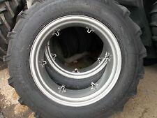 TWO 13.6X28,13.6-28 JOHN DEERE 2030 TRACTOR 8 ply Tractor Tires w/6 Loop Wheels