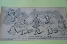 En vacances Costumes pour enfants de 2 à 6 ans Originale Print 1903
