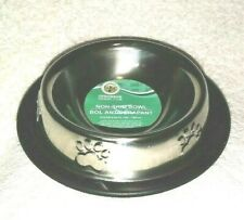 Greenbriar Kennel Club Stainless Bowl, Non-skid, cat /dog NEW 6 oz. 180 mL Paw