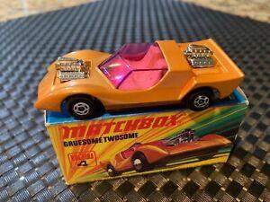 Matchbox Superfast #4 GRUESOME TWOSOME Metallic Gold NEW w/Orig. Box 1971
