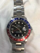 "ROLEX GMT MASTER 40MM 16760 STAINLESS STEEL RED/BLUE ""PEPSI"" BLACK DIAL"
