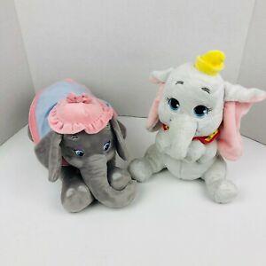 Disney Parks Mrs Jumbo 14'' And Dumbo 11'' Plush Stuffed Animals Toy Lot Of 2