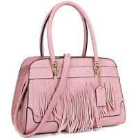 Dasein Womens Handbags Faux Leather Satchel Tote Bag Shoulder Bag Purse