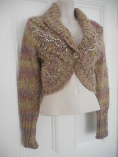 DKNY Chunky Knit Wool blend Shrug Bolero Cardigan Jumper Size M❤