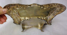 Antique ENGLISH Art Nature Serving Dish Compote Homan Silver Plate