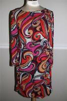 Anthropologie  Maeve red purple black Swirl Tunic Dress Size 6 (DR100)