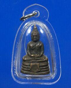 Phra King Sothorn Buddha Pendant b.e.2508 Holy Thai Buddhist Amulet