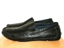 f8e92ffdde8 ALDO Black Leather Casual Moccasins Loafers Leather Lining   Insoles UK 10  EU 44