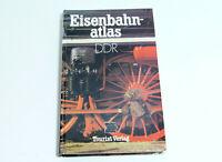Eisenbahnatlas DDR - Turista Editorial 1.Aufl. 1987 Eisenbahnstrecken DDR
