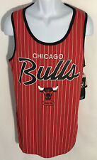 """47 NBA Chicago Bulls Red Pinstripe Tank Top  Mens Size XL Slim Fit 40/42"""" chest"""