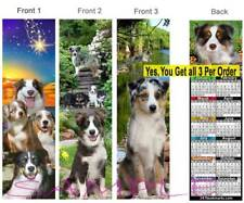 3Set-Australian Shepherd 2019 Calendar BOOKMARK Border Collie Dog Gift Book Card