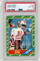 1986 Topps #161 JERRY RICE RC Rookie Card HOF PSA 6 Graded 49ers
