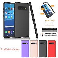 For Samsung Galaxy S10/S10+/S10e 360° Full Body Slim Hard Case +Screen Protector