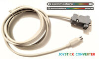 COMMODORE C16 / PLUS 4 / TO C64 / AMIGA JOYSTICK CONVERTER 2-IN-1 ADAPTER CABLE
