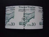 """#2458 10c Tractor Trailer  EFO Misperforated Pair MNH OG VF """"Includes New Mount"""""""