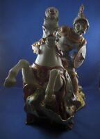 Eugenio Pattarino Mongol Krieger auf Pferd Töpferei Ton Figur Figur Italien