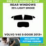 VOLVO V40 5-DOOR 2013+ 35% LIGHT REAR PRE CUT WINDOW TINT