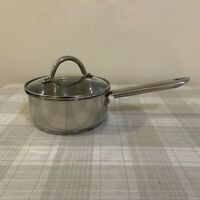Wolfgang Puck's Cafe Collection 2 Qt Quart Fry Pan Pot w/Lid 18/10 SS