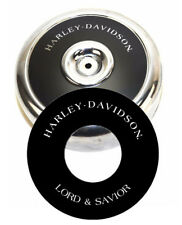 "Harley-Davidson LORD & SAVIOR 8"" Round Air Cleaner Filter Cover Insert Decal Evo"