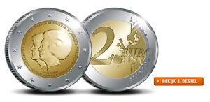 "OLANDA PAYS-BAS 2 euro 2013 ""Cambio di governanti da Beatrix a Willem Alexande"""