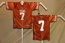 TEXAS LONGHORNS Nike  sewn  # 7  FOOTBALL JERSEY   Youth Large   NWT $60 retail