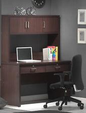 62''H Comtemporary Classic designed Study Desk with Hutch in espressoFinish-ASDI
