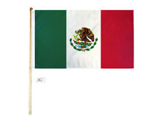 5' Wood Flag Pole Kit Wall Mount Bracket With 3x5 Mexico Country Polyester Flag