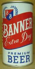 Banner Beer, ss Flat Top Can Cumberland Brewing Maryland 1959 1/1+ Free Shipping