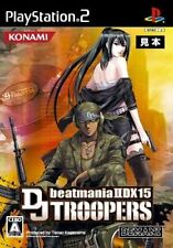 Used PS2 beatmania IIDX 15 DJ Troopers KONAMI  SONY PLAYSTATION 2 JAPAN  IMPORT