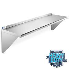 "Stainless Steel Commercial Kitchen Wall Shelf Restaurant Shelving - 14"" x 48"""