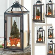 6 Extra Large Lantern Rustic Wood Iron Candle Holder Tall Wedding Centerpieces