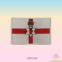 Northern Ireland National Flag Embroidered Iron On Patch Sew On Badge Applique