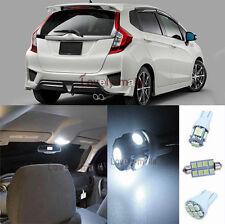 New Premium White Light SMD Interior LED Package Kit For Honda Jazz 2009-2014