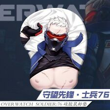 Online Game Overwatch OW SOLDIER:76 3D Mouse Pad Mat Gaming Playmat Wrist Rest