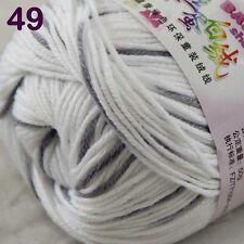 1skeinx50g Baby Cashmere Silk Wool Children hand knitting Yarn 1849 White Gray