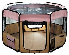 Pet Puppy Dog Playpen Exercise Pen Kennel Pink
