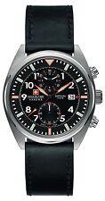 Swiss Military Men's SM34302AEU/H02S Quartz Watch with Black Dial Analogue Di...