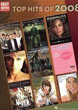 10 TOP HITS of 2008 for EASY GUITAR Sheet Music book PICK / STRUM + FREE BONUS