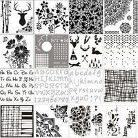 16Pack Journal Stencils Various DIY Ding Book Plastic Planner Stencils for R7O3