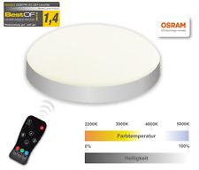 Visolight D280TW LED Leuchte mit Fernbedienung, 20 Watt, 2200K - 5000K SILBER