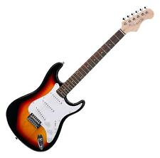 GUITARE ELECTRIQUE 6 CORDES 21 FRETTES 3 BOBINAGES SIMPLE TREMOLO CABLE SUNBURST