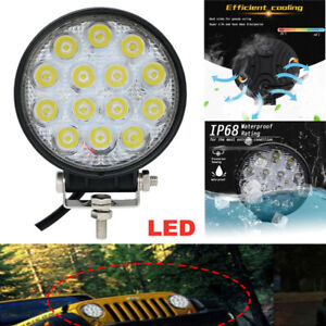 2PCS 12V-31V 42W Car Truck Off-Road LED Work Light Fog Lamp Tractor Flood Lights