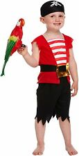 BOYS PIRATE TODDLER FANCY DRESS PARTY WORLD BOOK WEEK DAY HALLOWEEN COSTUME 2-4