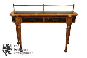French Country Distressed Pine Buffet or Sideboard Hall Entry Console Sofa Table