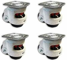 CasterHQ - Retractable Leveling Machine Casters - 4 Pack - 2,400 lbs Per Set - P