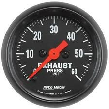 UNIVERSIAL DODGE FORD CHEVY AUTO METER Z-SERIES EXAUST PRESSURE GAUGE 0-60 PSI